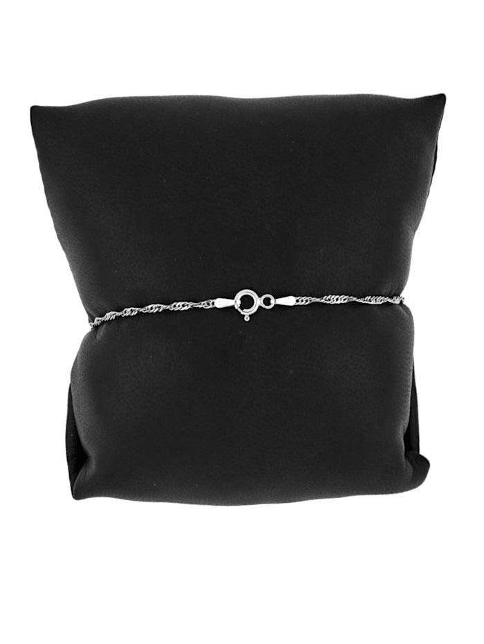 Gedraaide armband van echt zilver
