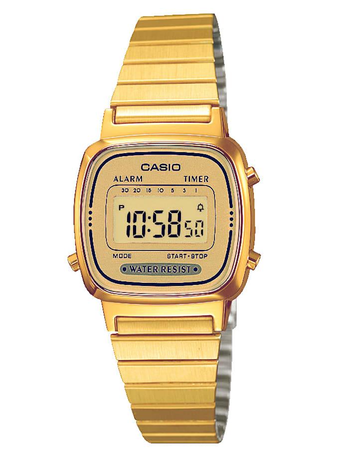 Casio Damenuhr-Chronograph LA670WEGA-9EF, Gelbgoldfarben