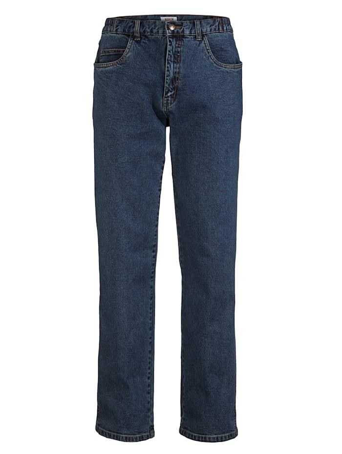 Roger Kent Jeans med komfortresår i sidorna, Blue stone