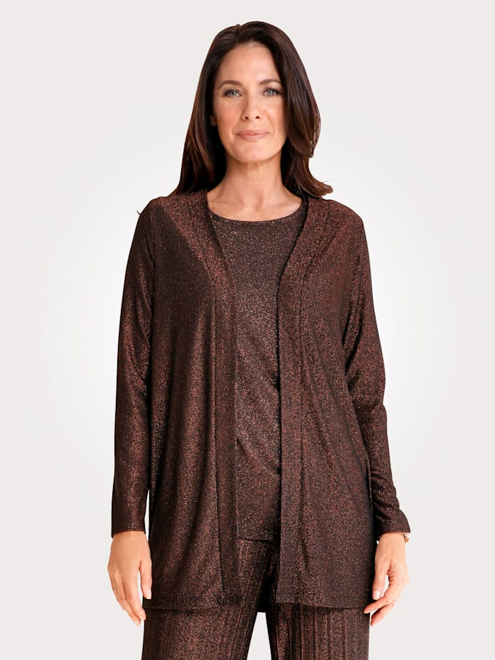 MONA Jacket with shimmering thread, Black/Copper