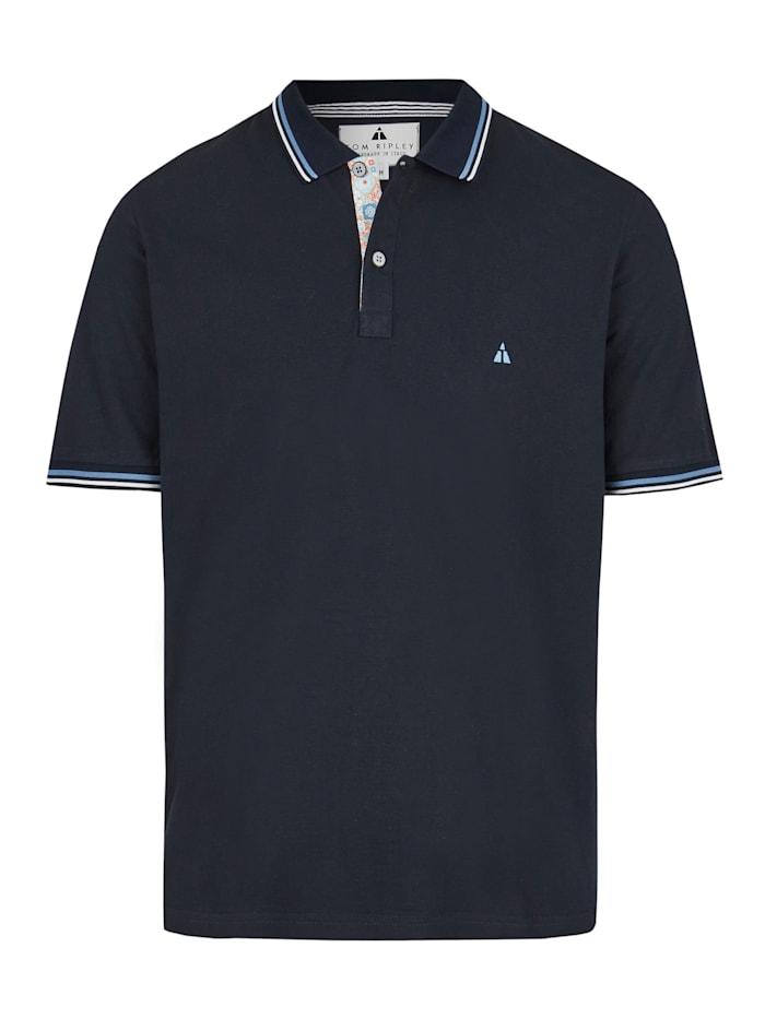 Hajo Premium Pikee-Poloshirt, marineblau