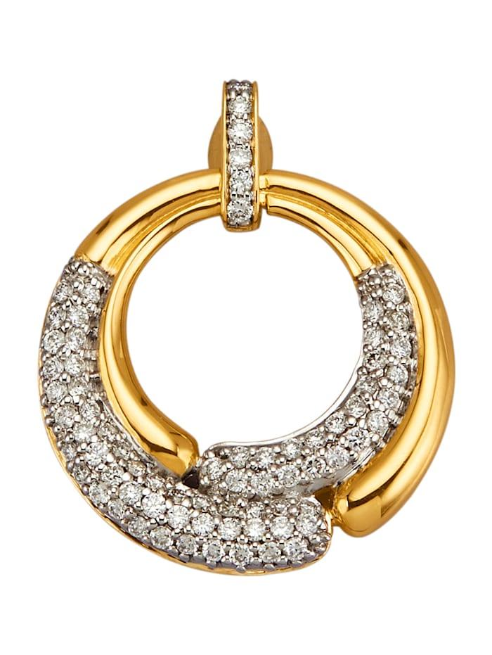 Diemer Diamant Anhänger mit 73 Brillanten, Gelbgoldfarben