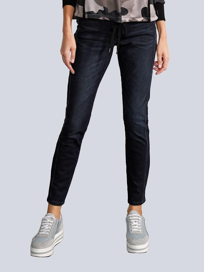 CAMBIO Jeans in modischer Waschung, Dark blue