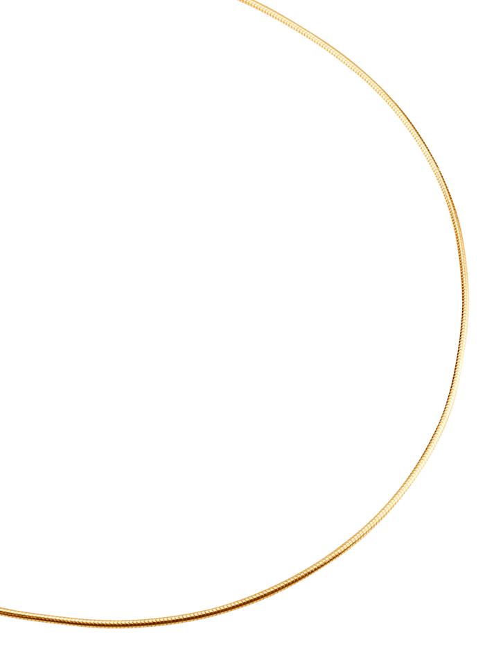 Chaîne maille serpent en argent 925 plaqué or, Coloris or jaune