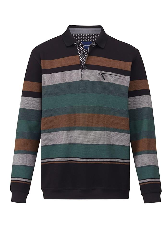 BABISTA Sweat-shirt Facile à vivre et à entretenir - un indémodableidéal au quotidien, Noir/Vert/Rouille