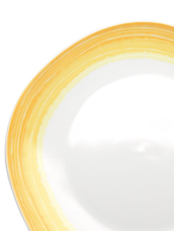 "Flirt by Ritzenhoff Frokostsett ""Sunrise"" i porselen, hvit/gul"