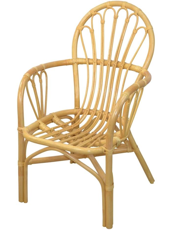 Möbel-Direkt-Online Rattansessel (2Stück) mit Kissen Conny, beige