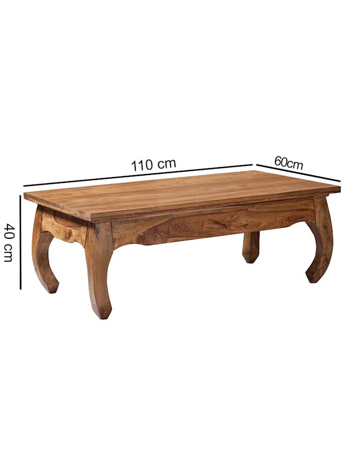 Couchtisch Massiv-Holz 110 cm breit Wohnzimmer-Tisch Design dunkel-braun Landhaus-Stil Beistelltisch