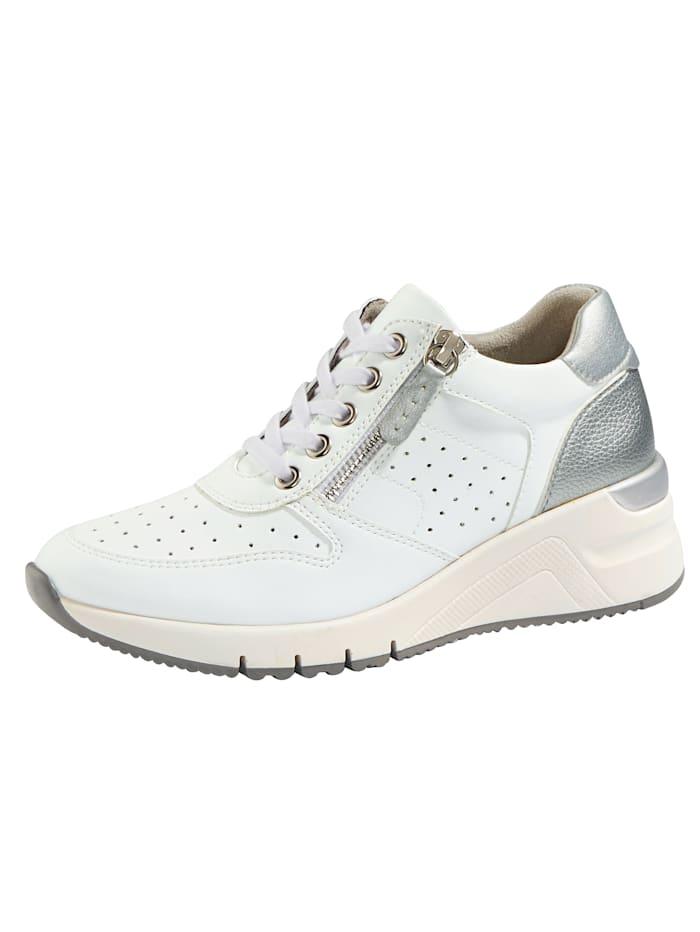 Liva Loop Sneaker mit sommerlicher Perforation, Weiß