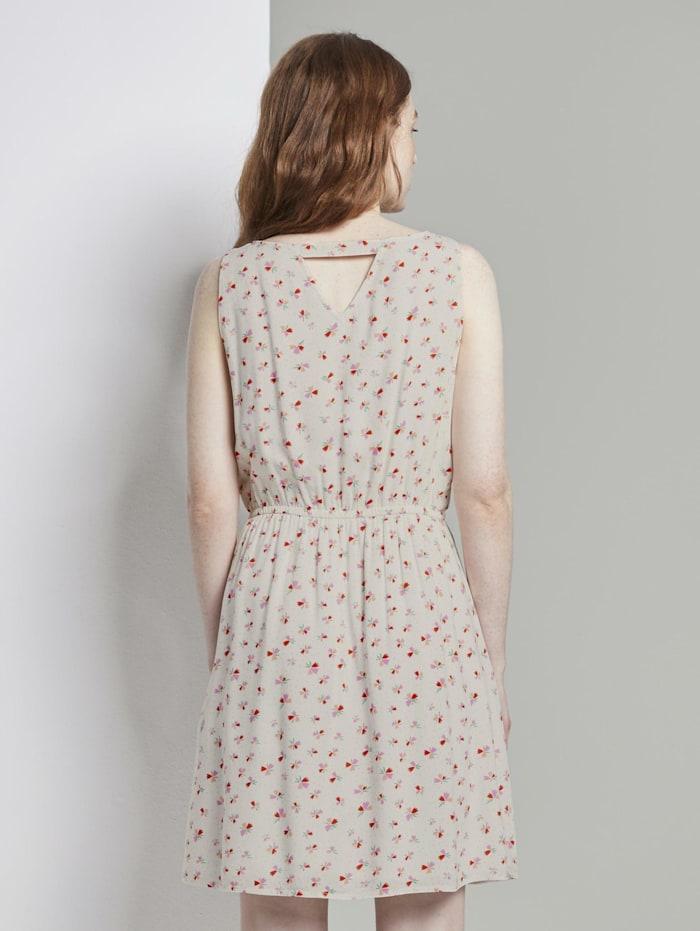 Ärmelloses Kleid mit Blumenmuster