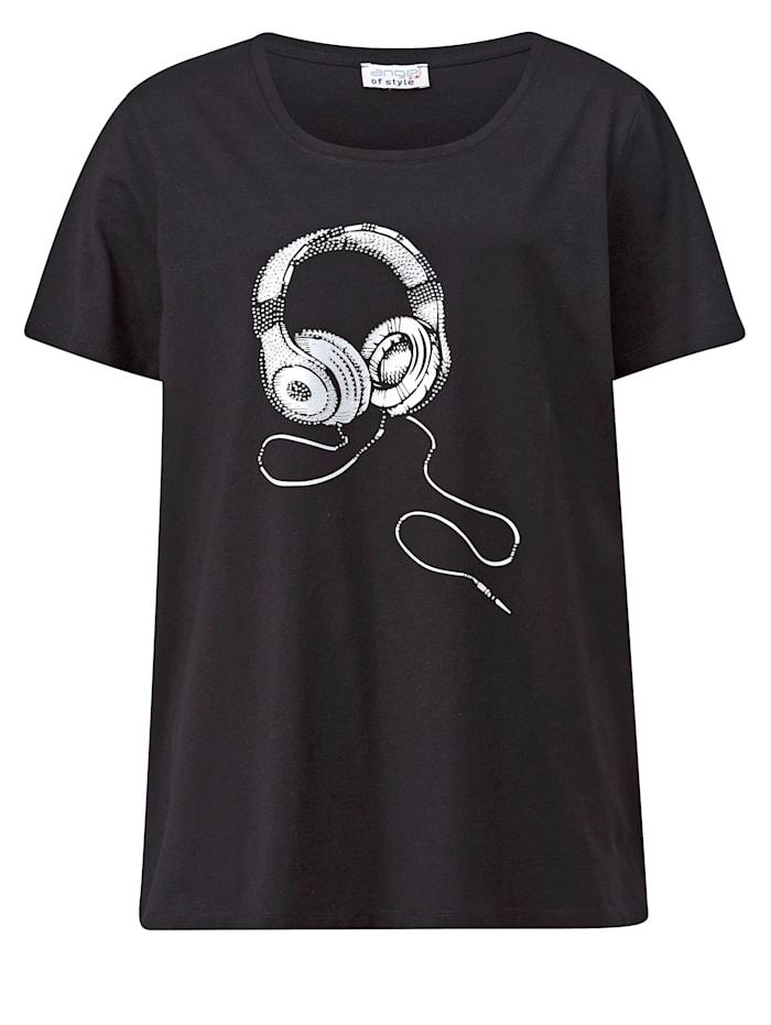 Shirt mit Kopfhörer Print