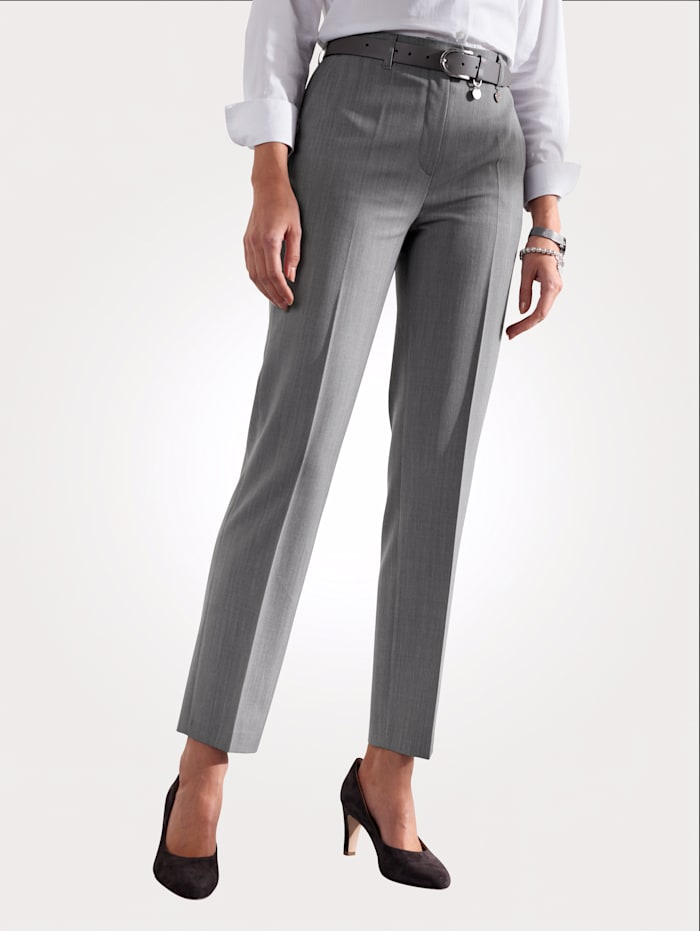 Relaxed by Toni Trousers made from premium-quality wool, Light Grey