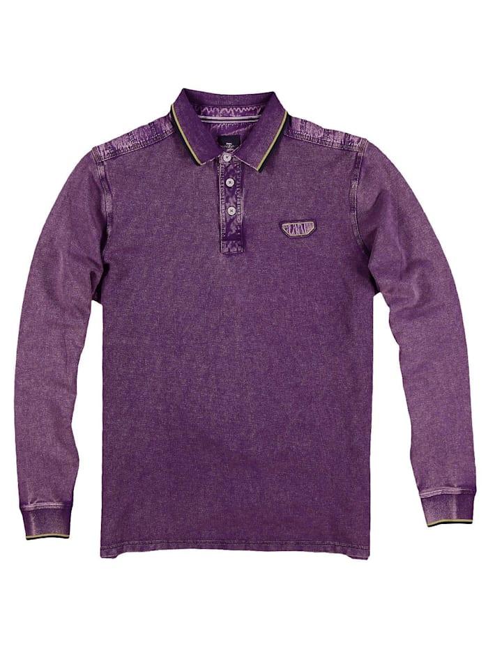 Engbers Poloshirt langarm, Weinrot