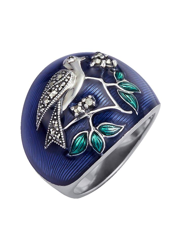 Vogel-Ring mit Markasit