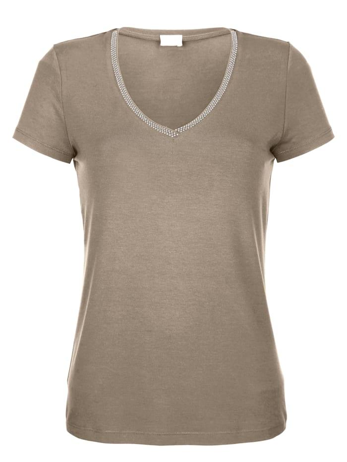 Alba Moda Tričko s aplikací štrasů, Bahenní