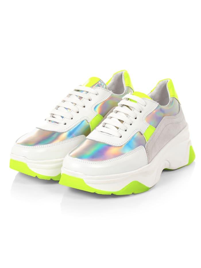 REKEN MAAR Sneaker, Silberfarben