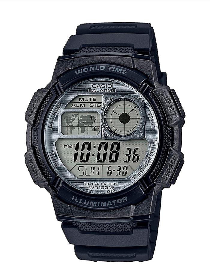 Casio Herren-Uhr Chronograph, Schwarz
