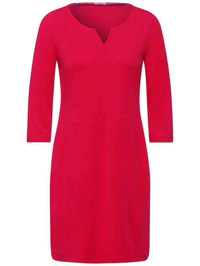 Cecil Jersey-Kleid mit Taschen, hibiscus red