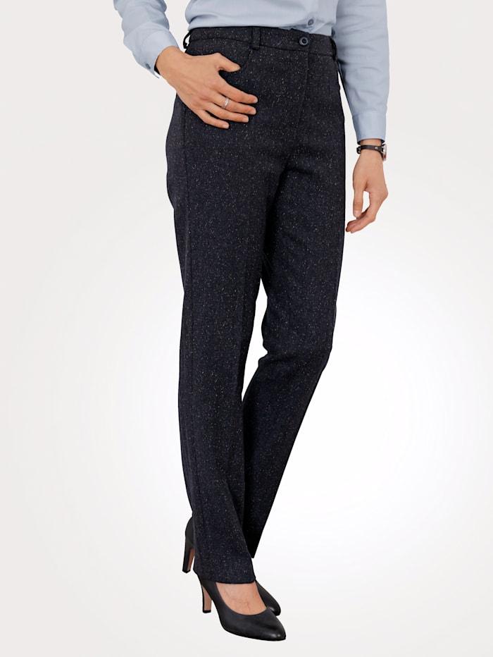 MONA Pantalon à haute part de laine, Marine