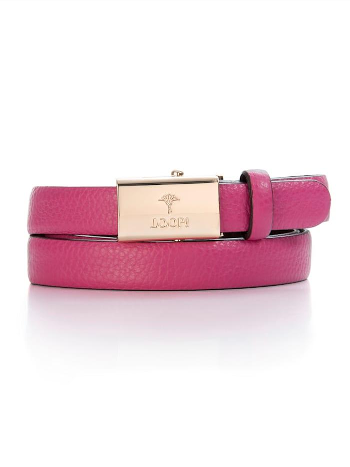 JOOP! Gürtel mit Markenlogo, pink