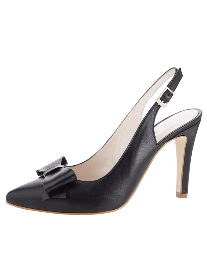 Gennia Slingback shoes Made of soft nappa leather, Black
