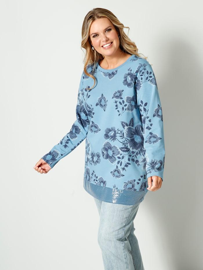 Sweatshirt vorne mit Pailletten am Saum
