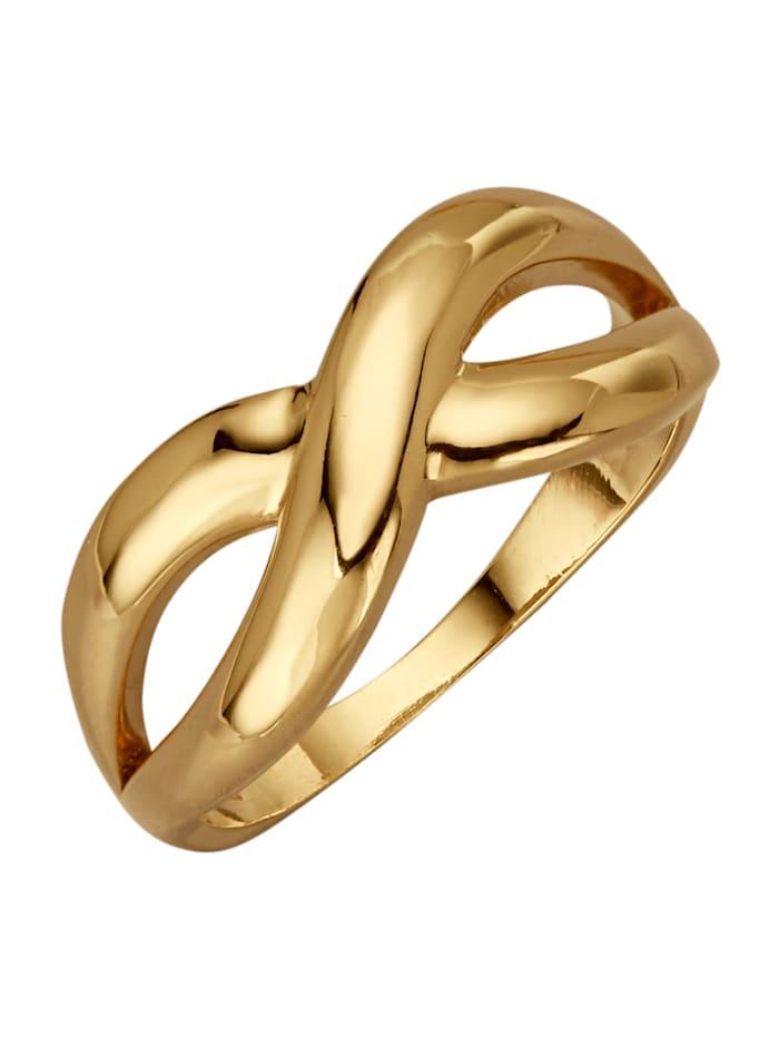 Diemer Gold Damesring Infinity, Geelgoudkleur