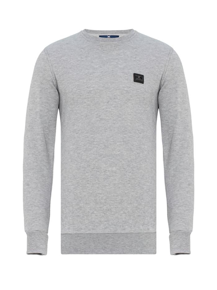 Auden Cavill Sweatshirt Change mit unifarbenem Stoff, Grau