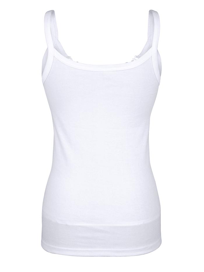 Hemdjes met glanzend kant 3 stuks