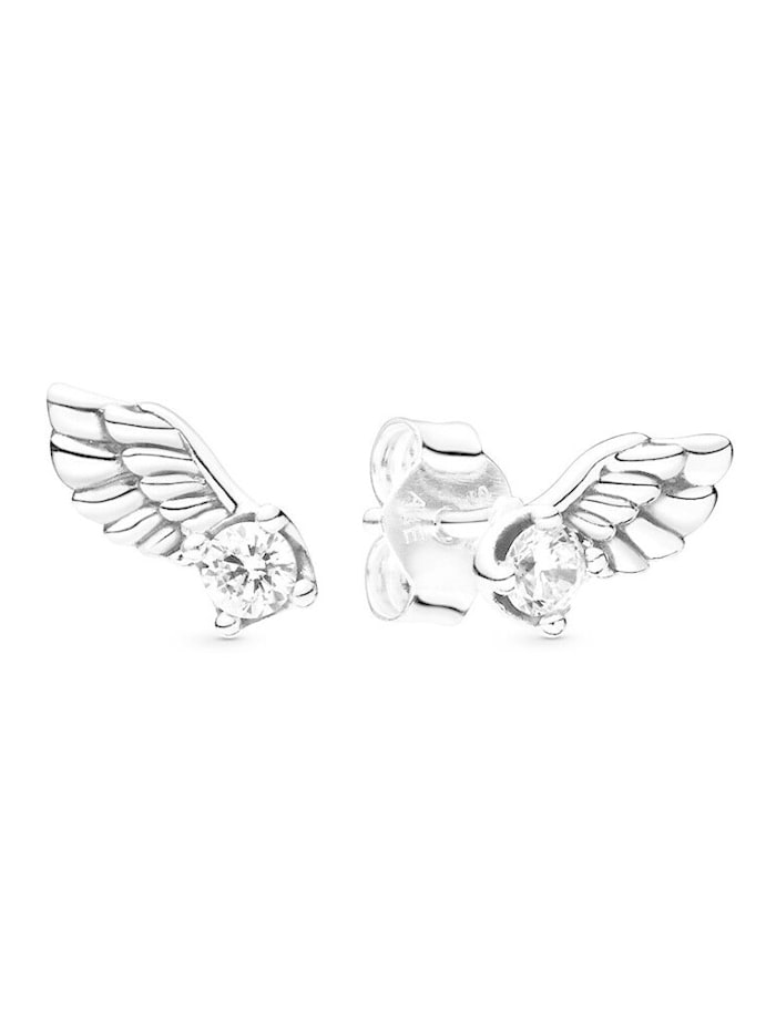 Pandora Ohrstecker -Funkelnde Engelsflügel- 298501C01, Silberfarben
