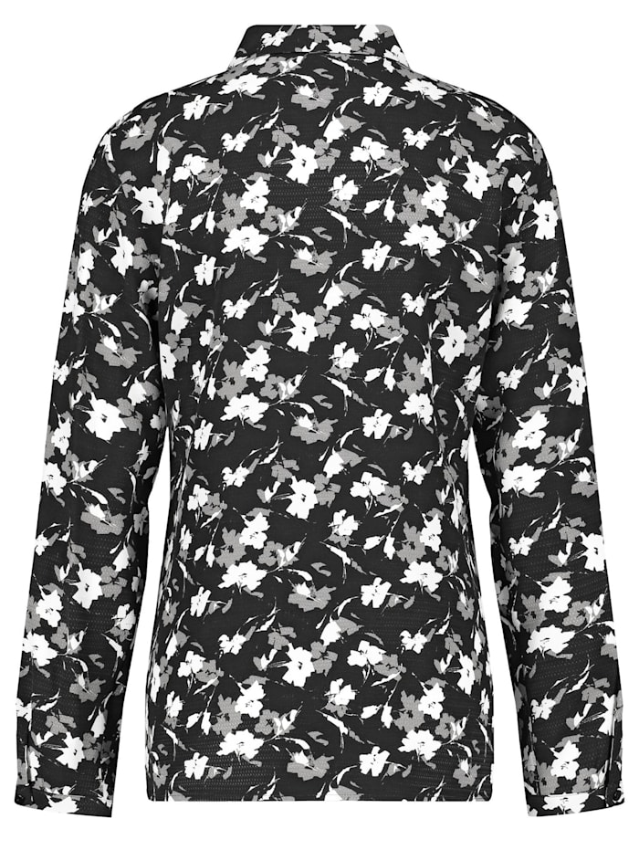 Langarmbluse mit floralem Muster