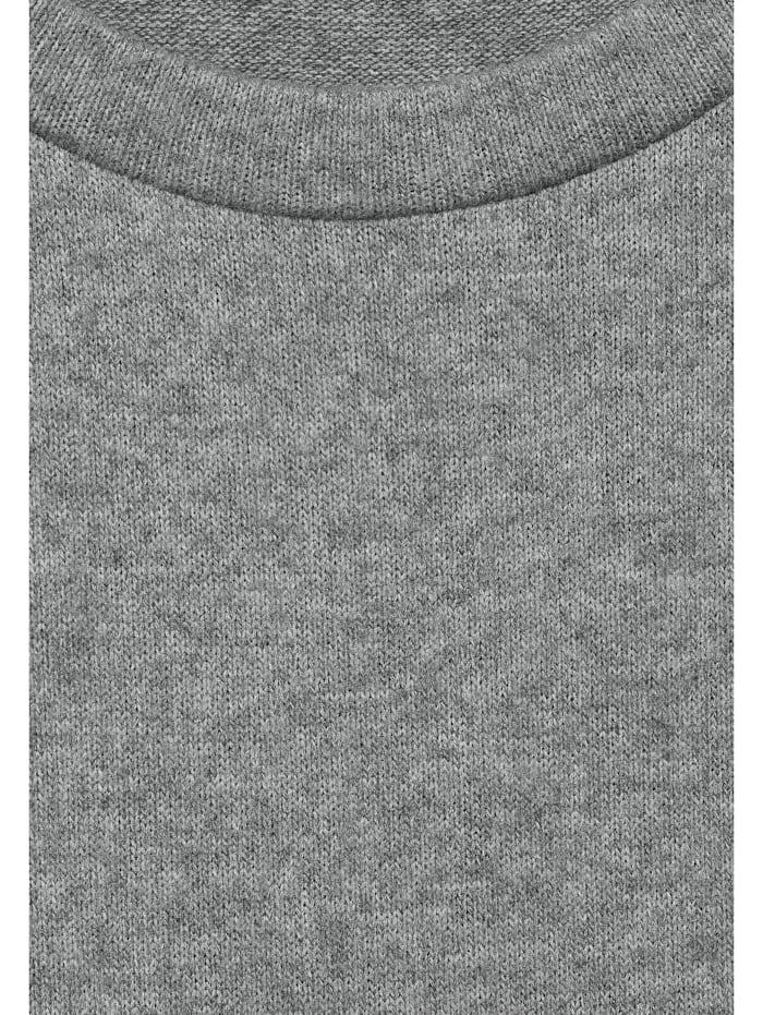 Melange-Kleid mit Puffärmeln