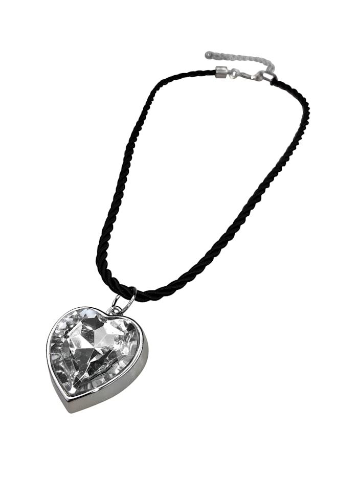 Allgäu Rebell Trachtenkette Sandy mit Herzanhänger, schwarz