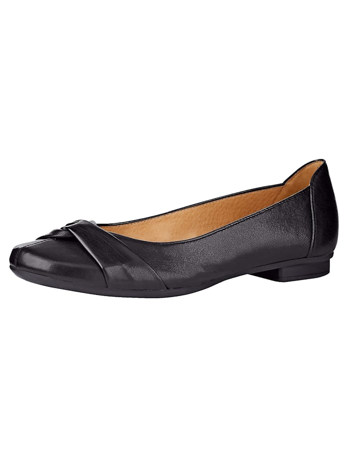 Gabor Ballet Court shoes constructed in a Sacchetto style, Black
