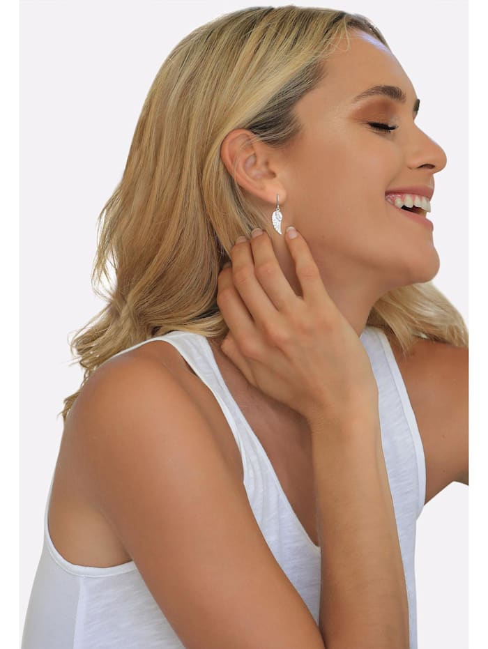 Ohrringe Ohrhänger Flügel Glücksbringer 925 Sterling Silber