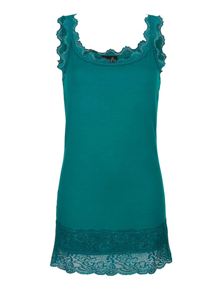 Dress In Top s čipkou, Smaragdová