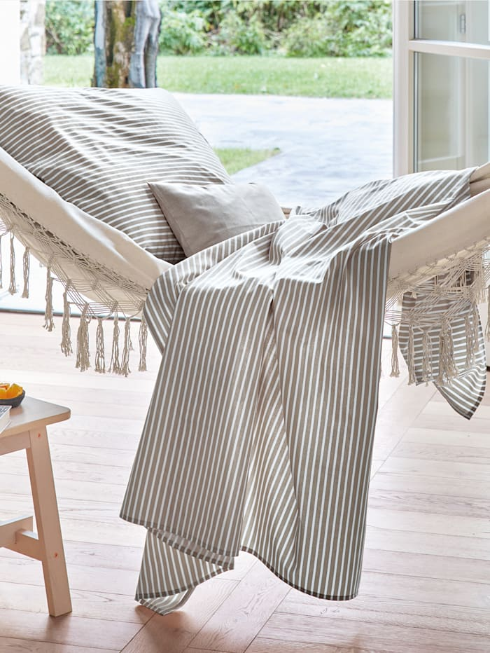 Sommerlig sengesett i bomullslerret