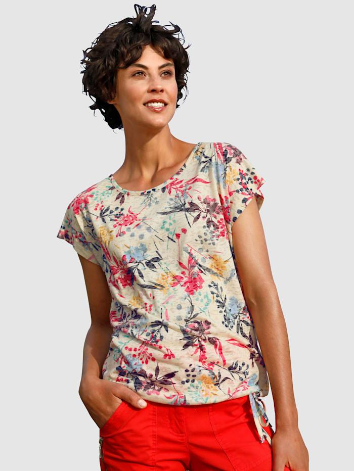 Dress In T-shirt avec détail à nouer, Vanille