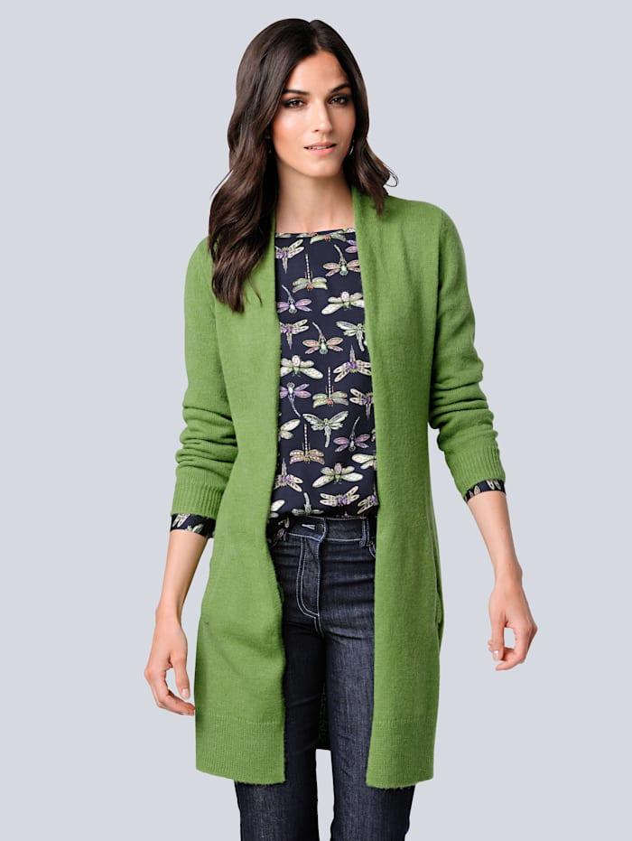 Alba Moda Vest van heerlijk zacht materiaal, Groen