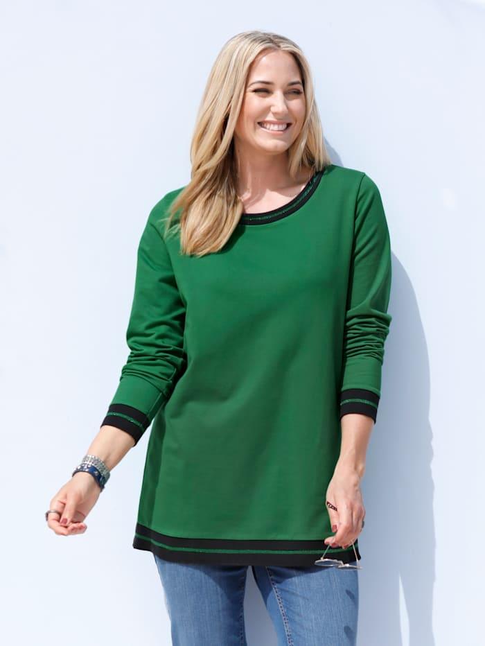 Sweatshirt mit glitzernden Rippbündchen
