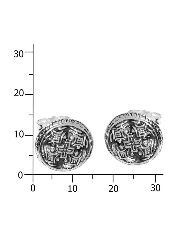 Ohrstecker - Hiddensee 13 mm rund - Silber 925/000 - ,