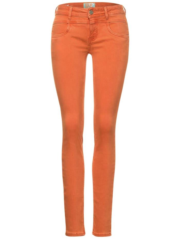 Street One Denim im Colour-Style, dark mandarine soft washed