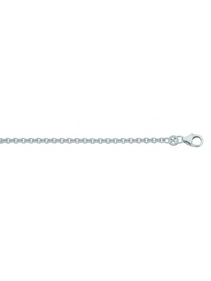 1001 Diamonds Damen Weißgoldschmuck 585 Weißgold Anker Halskette 36 cm Ø 1,1 mm, silber