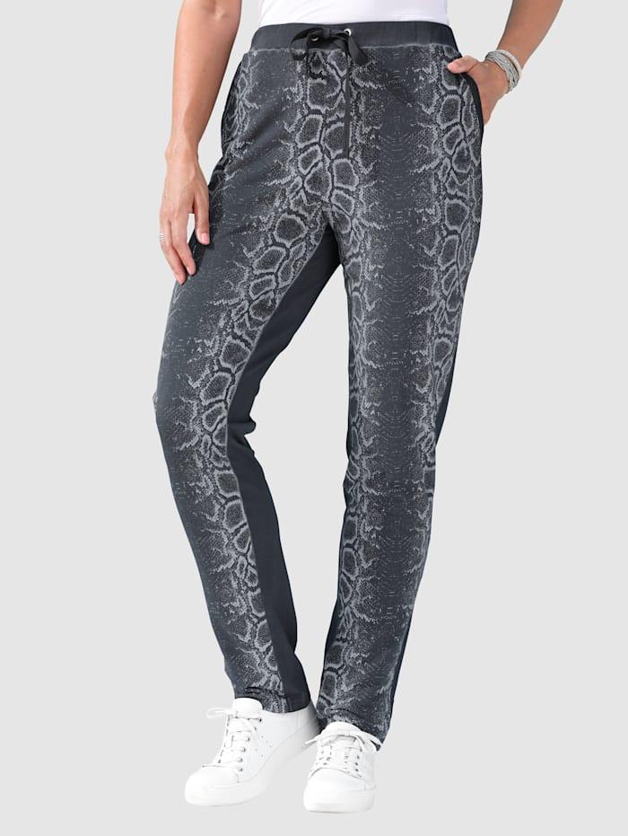 Pantalon molletonné à imprimé animal devant
