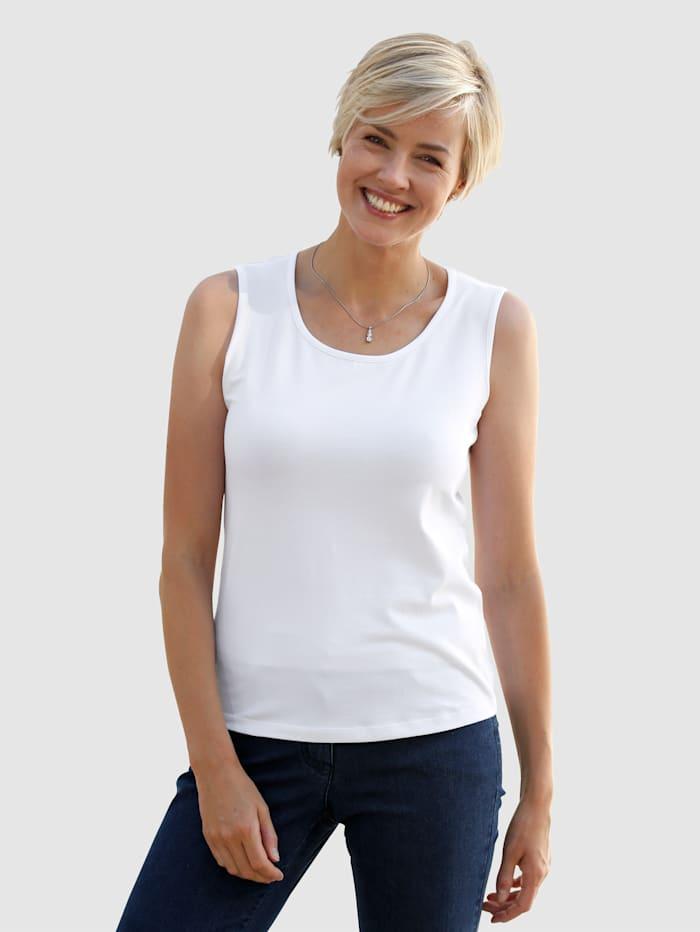 Dress In Topje met hoog katoengehalte, Wit