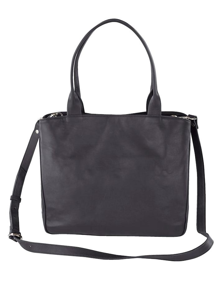 Vamos Handtasche aus hochwertigem Leder, dunkelblau