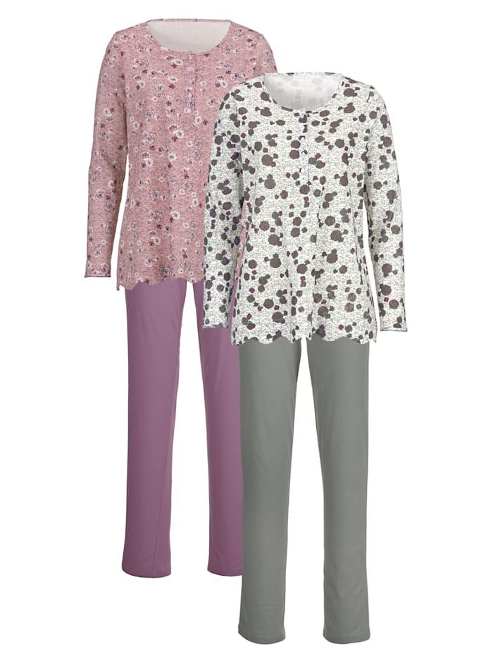 Schlafanzug mit hübschem Saumabschluss 2er Pack