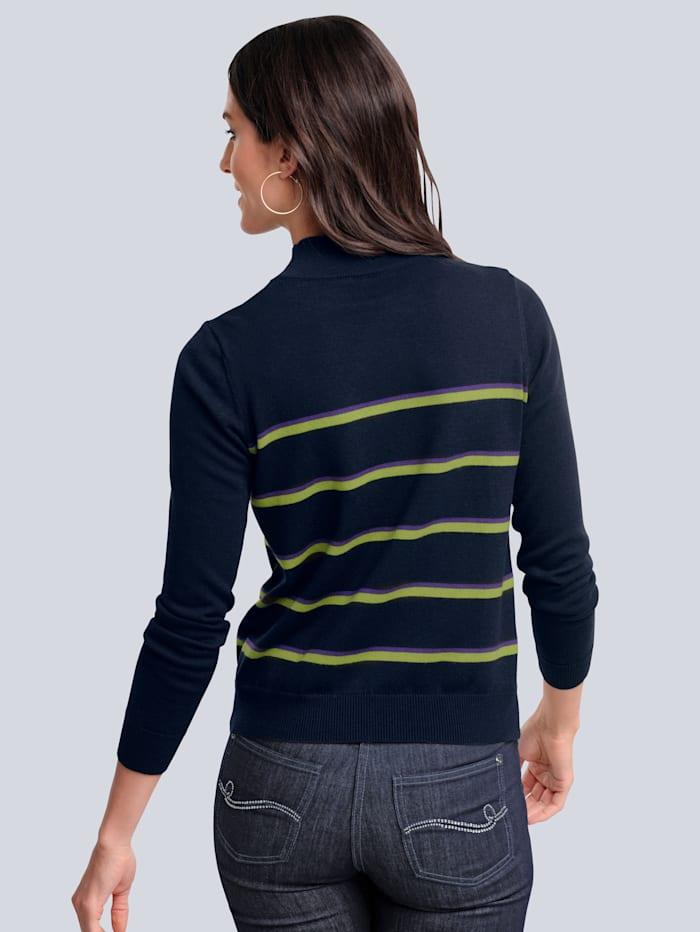 Pullover mit kontrastfarbigem Streifen