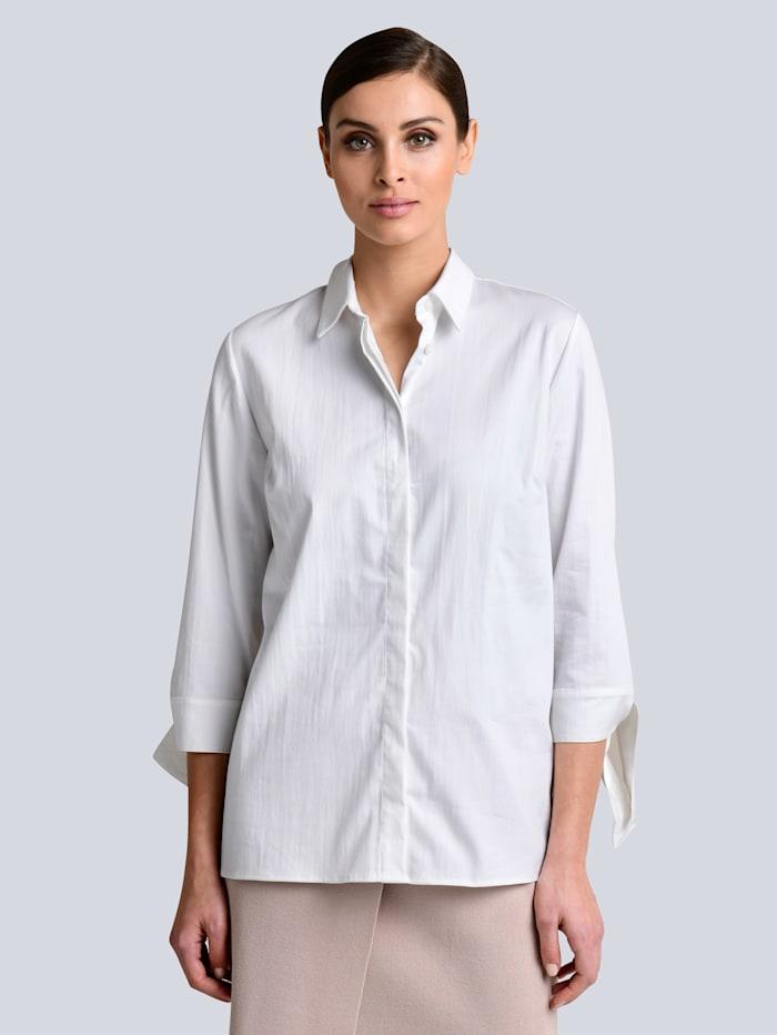 Alba Moda Bluse aus leicht satinierter Ware, Weiß