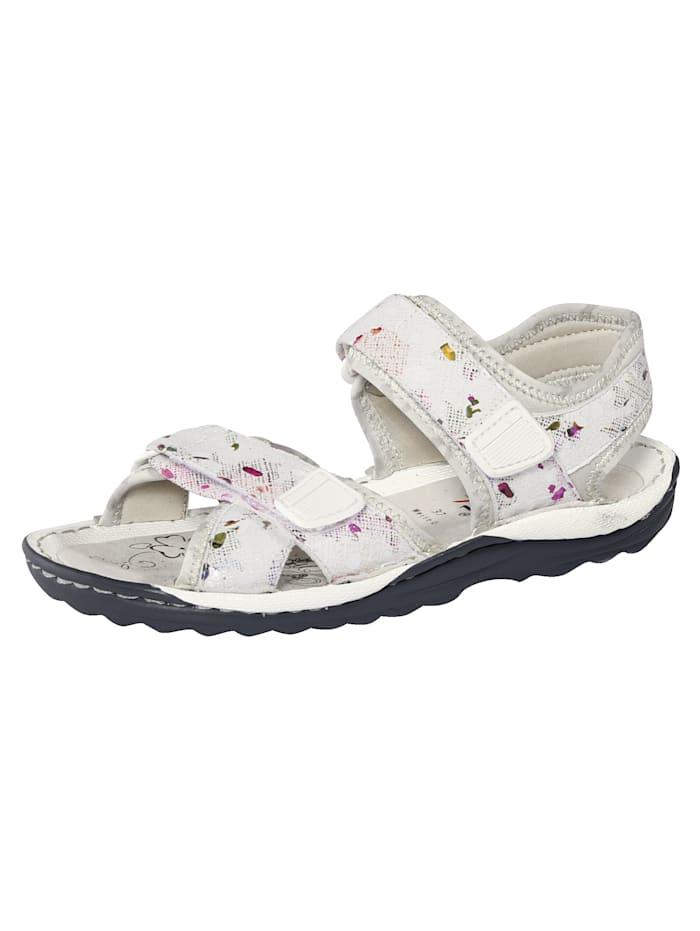 Naturläufer Sandale, Weiß/Multicolor